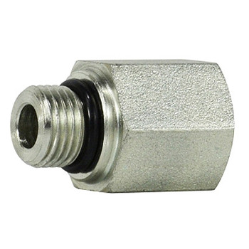 9/16-18 MORB x 1/4 in. FNPT Steel O-Ring to Female Pipe Adapter