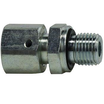 28 mm Tube x 1-1/8 in. Male BSPP, DIN 2353 Metric, Male Stud Coupling, Steel, Hydraulic Adapter, SWV Male Conn