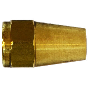 1/2 in. UNF Threaded Long Rod Nut, SAE# 010111, SAE 45 Degree Flare Brass Fitting