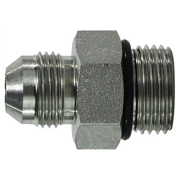 7/16-20 Male JIC x 3/8-24 Male O-Ring Connector Steel Hydraulic Adapters