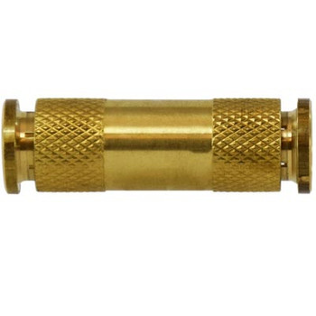 3/8 in. Tube OD, Push-In Union Connector, Brass Push to Connect Fittings