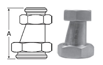 2-1/2 in. x 1-1/2 in. 32-14F Eccentric Taper Reducer (3A) 304 Stainless Steel Sanitary Fitting