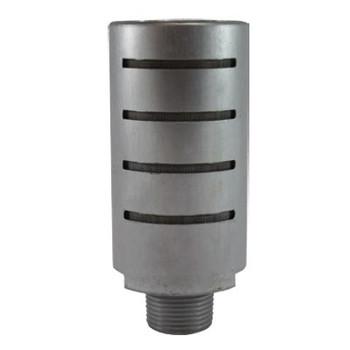 1 in. Aluminum High Flow Muffler, 50 Mesh Stainless Steel Element, Max Operating Pressure: 300 PSI, Pneumatic Accessories