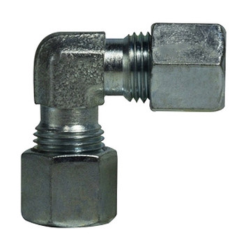 15mm Union Stud Elbow Coupling 90 Degree, Steel, DIN 2353 Metric, Hydraulic Adapter