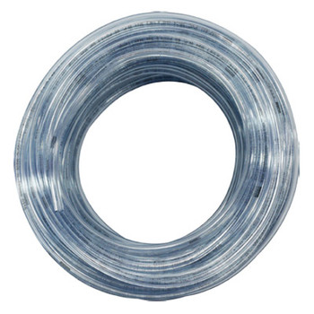1/2 in. OD PVC Tubing, Clear, 100 Foot Length, Tube ID: 3/8