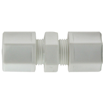 3/8 in. x 1/4 in. Polypropylene Compression Reducing Union Connector, FDA & NSF Listed