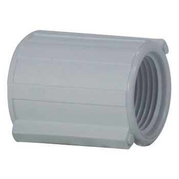 Threaded Coupling, PVC Schedule 40 Pipe Fitting, NSF 61 Certified