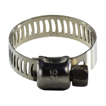 #6 Miniature Worm Gear Hose Clamp, 5/16 in. Band, 350 Series Stainless Steel