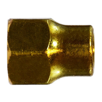 1/4 in. UNF Threaded Long Forged Nut, SAE# 010167, SAE 45 Degree Flare Brass Fitting