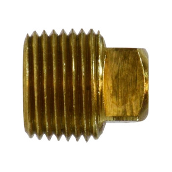 3/4 in. Cored Square Head Plug, NPTF Threads, 1000 PSI Max, Barstock Brass, Pipe Fitting