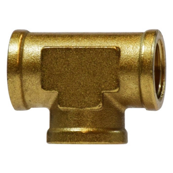 1/4 in. x 1/4 in. x 1/8 in. Reducing Forged Tees, Female, NPT x NPT x NPT, Up to 1200 PSI, Brass, Pipe Fittings