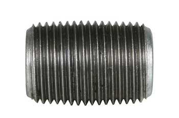 2 in. x CLOSE Galvanized Pipe Nipple Schedule 40 Welded Carbon Steel