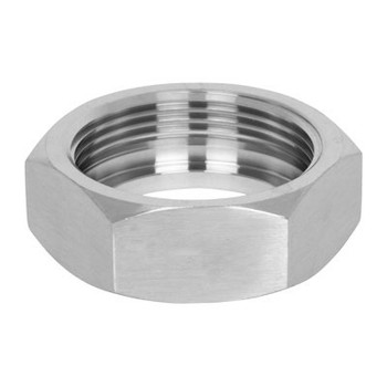 4 in. Union Hex Nut - 13H - 304 Stainless Steel Sanitary Bevel Seat Fitting View 2
