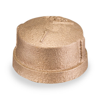 4 in. Threaded NPT Cap, 125 PSI, Lead Free Brass Pipe Fitting