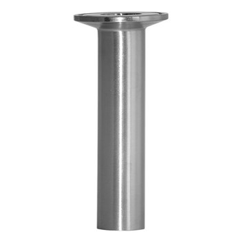 1 in. 14MPHT Tygon Hose Adapter (Clamp End x Tube For Tygon Hose) (3A) 304 Stainless Steel Sanitary Fitting