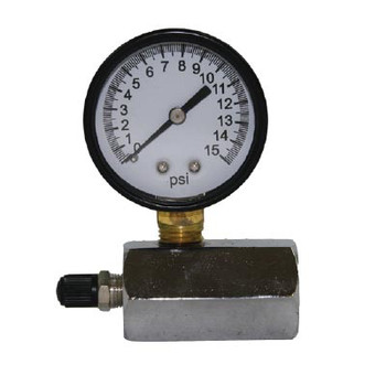 0-15 Face Size, Gas Test Gauge W/1/10 INC. Pneumatic Accessories