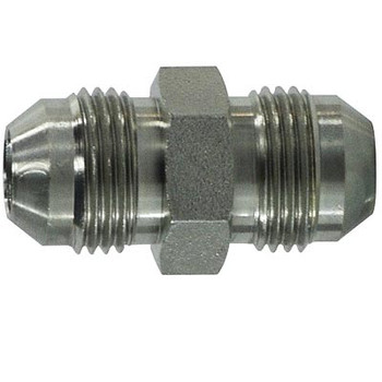 5/16-24 JIC Tube Union Steel Hydraulic Adapter