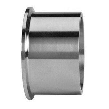 2-1/2 in. Tank Ferrule - Heavy Duty (14MPW) 316L Stainless Steel Sanitary Clamp Fitting (3A) View 1