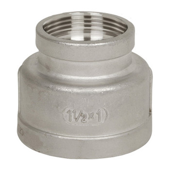 2 in.-1/2 x 2 in. Stainless Steel Pipe Fitting Female Reducing Coupling 316 SS Threaded NPT