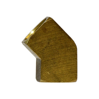 3/8 In. FIP x FIP, 45 Degree Female Elbow, NPTF Threads, Operating Pressure: Up to 1200 PSI, Brass Pipe Fitting