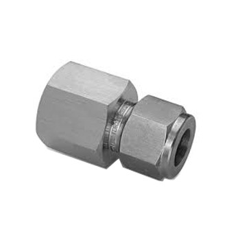 1/4 in. Tube x 1/4 in. NPT Female Connector 316 Stainless Steel Fittings (30-FC-1/4-1/4)