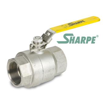 1-1/2 in. 316 Stainless Steel 2000 WOG Full Port Seal Welded Threaded Ball Valve Sharpe Valves Series 50B76