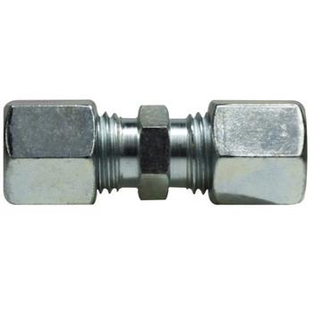 6 mm Union Coupling, Steel, DIN 2353 Metric, Hydraulic Adapter - HEAVY