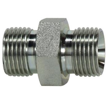 1/2-14 x 3/8-19 BSPP Steel Hex Nipples Hydraulic Adapter