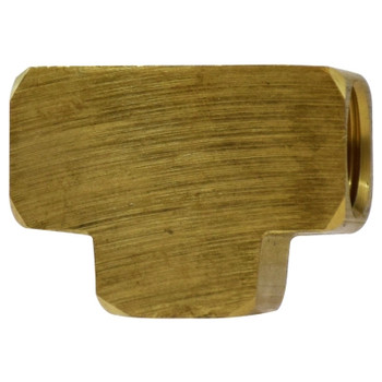 1/4 In. Union Tee, FIP x FIP x FIP, NPTF Threads, SAE# 130438, Operating Pressure: Up to 1200 PSI, Brass Pipe Fitting