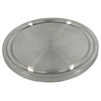 1/2 in. - 3/4 in. Tri Clamp/Tri-Clover Cap, 304 Stainless Steel, Sanitary