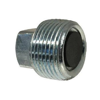 1/2-14 Magnetic Drain Plug, Steel, NPT Threaded