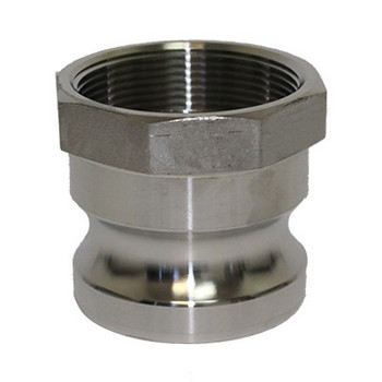 4 in. Type A Adapter 316 Stainless Steel Cam and Groove Male Adapter x Female NPT Thread
