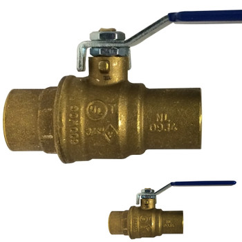 1-1/2 in. 600 WOG, Full Port, Italian Lead Free Forged Brass Ball Valve, SWT x SWT, CSA AGA