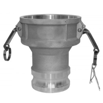 4 in. x 3 in. Type DA Female Coupler x Male Adapter, 316 Stainless Steel, Camlock/Cam & Groove