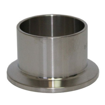 4 in. Tri Clamp Ferrule, Long, 304 Stainless Steel, Sanitary TriClamp/TriClover, HomeBrew & Brew Fittings