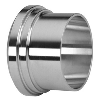 2-1/2 in.  Long Plain Bevel Seat Ferrule - 14A - 316L Stainless Steel Sanitary Fitting (3-A) View 1