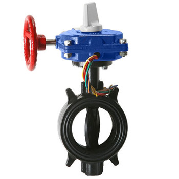 4 in. Ductile Iron Wafer Butterfly Valve with Tamper Switch 300PSI UL/FM Approved - Supervised Closed