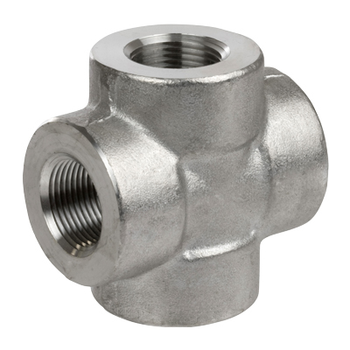 2 in. Threaded NPT Cross 316/316L 3000LB Stainless Steel Pipe Fitting