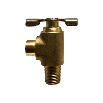 1/8 in. MIP x 3/8 in. (.38) ID Hose Bibb Needle Valve, Brass, Drain Cock, Lower, Industry No. 150