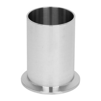 6 in. 14WLMP Tank Weld Spud, Light Duty (3A) 316L Stainless Steel Sanitary Clamp Fitting