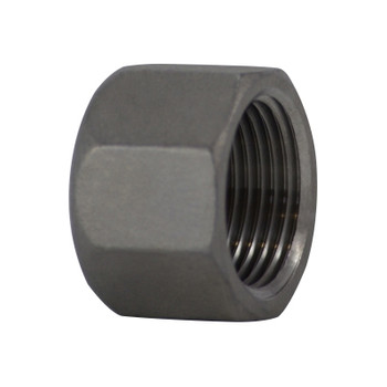 2-1/2 in. Stainless Steel Pipe Fitting Hex Head Cap 304 SS Threaded NPT