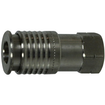 1/4 in. Female Coupler, Stainless Steel, Universal Series, Industrial Quick Disconnects, Pneumatic Fittings