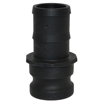 1 in. Type E Adapter Polypropylene Male Adapter x Hose Shank, Cam & Groove/Camlock Fitting