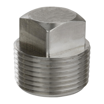 1/2 in. Threaded NPT Square Head Plug 316/316L 3000LB Stainless Steel Pipe Fitting