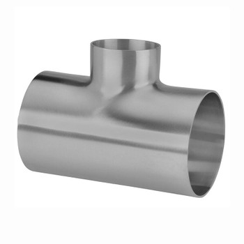 4 in. x 2-1/2 in. Unpolished Reducing Short Weld Tee (7RWWW-UNPOL) 316L Stainless Steel Tube OD Fitting