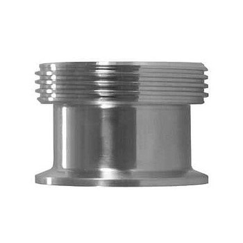 2-1/2 in. 17MP-15 Adapter (3A) 316L Stainless Steel Sanitary Clamp Fitting
