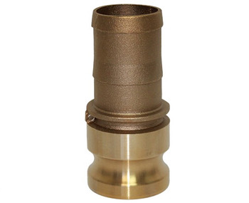 4 in. Type E Adapter Brass Cam and Groove Male Adapter x Hose Shank
