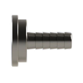 3/8 in. Hose Barb x 0.87 in. OAL Beer Stem, Nickel Plated Brass Beverage Fitting