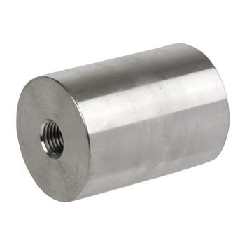 1 in. x 1/2 in. Threaded NPT Reducing Coupling 304/304L 3000LB Stainless Steel Pipe Fitting