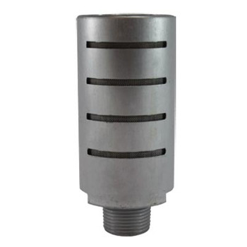 3/8 in. Aluminum High Flow Muffler, 50 Mesh Stainless Steel Element, Max Operating Pressure: 300 PSI, Pneumatic Accessories